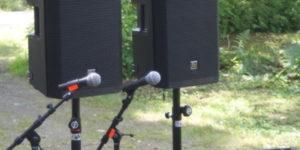 Hyra ljudanläggning med mikrofoner