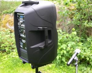 batteridriven ljudanläggning med trådlös mikrofon